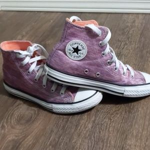 Converse All Star high tops purple youth size 3